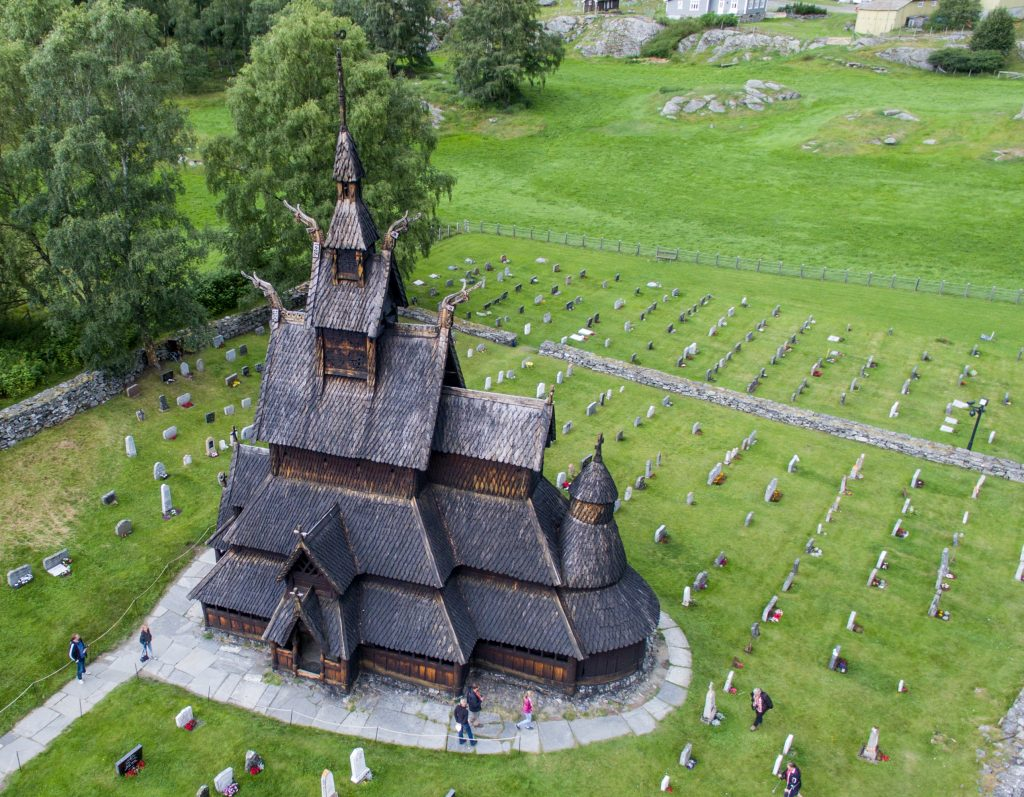 Drone photo of Norway Black Chruches