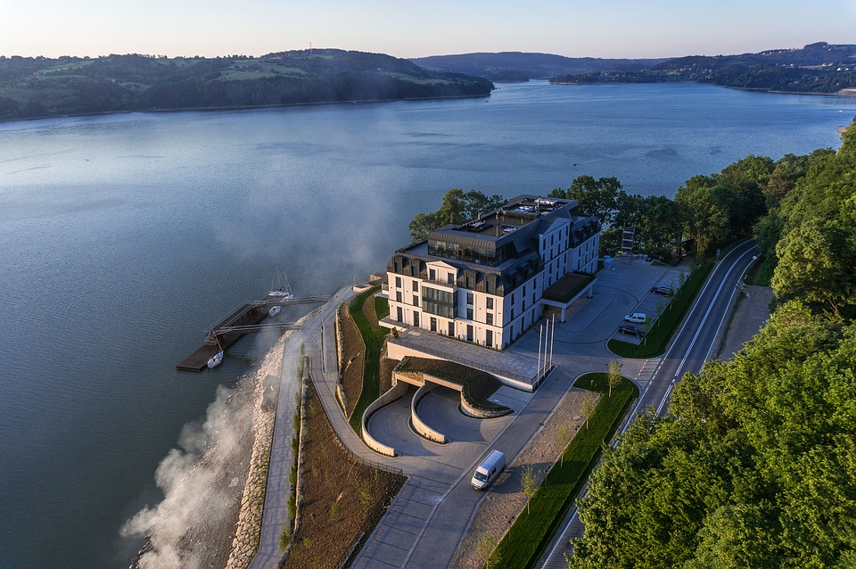 Aerial real-estate photography